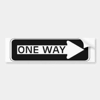 One Way Bumper Sticker