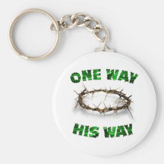 One Way, His Way Keychain