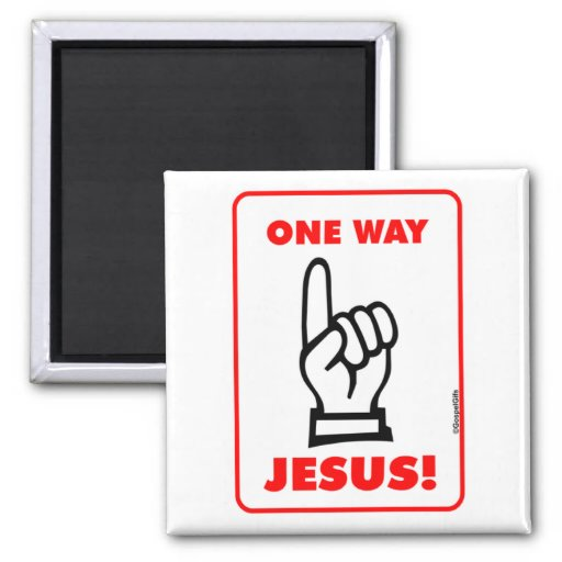 One way Jesus Christian street sign gift Refrigerator Magnets