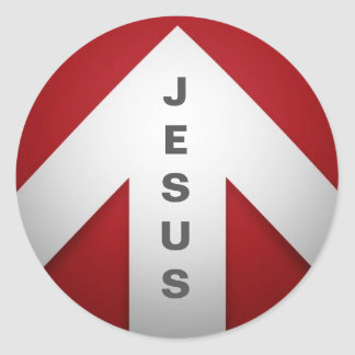 One Way - Jesus Classic Round Sticker
