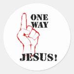 One Way Jesus Classic Round Sticker