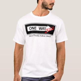 One Way jesús Playera