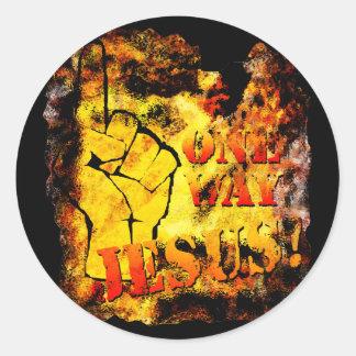 One Way: Jesus! Round Sticker