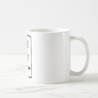 One Way (Left) Highway Sign Coffee Mug