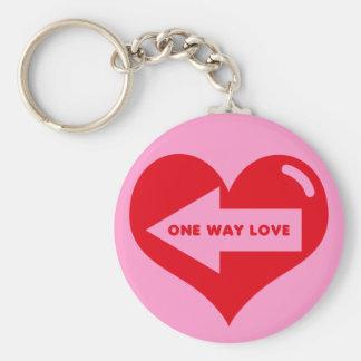 ONE WAY LOVE Keychain