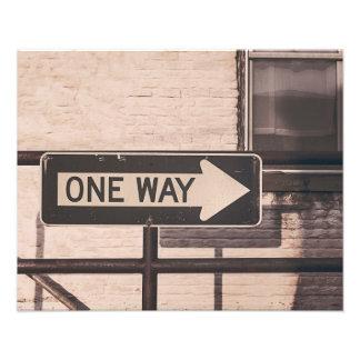 One way photo print
