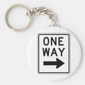 One Way Right Sign Keychain