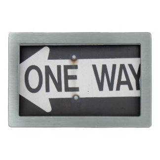 One Way Sign Belt Buckle