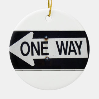 One Way Sign Ceramic Ornament