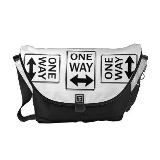 One Way Sign Humor Rickshaw Bags Messenger Bag
