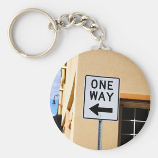 One Way Sign Key Chain