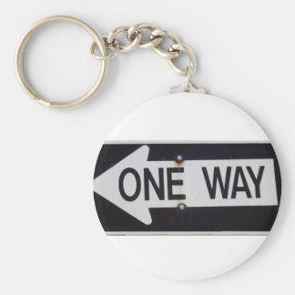 One Way Sign Keychain