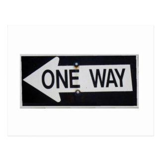 One Way Sign Postcard