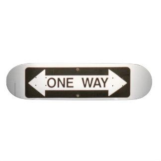 one way??? skateboard deck