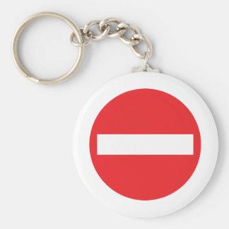 one-way street icon keychain