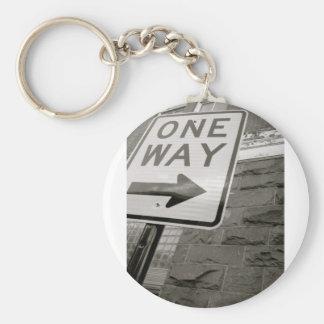 One Way Street Keychain