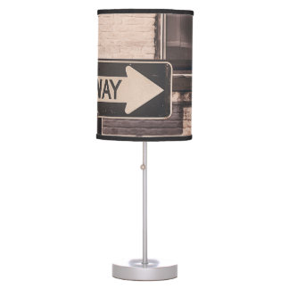 One way table lamp