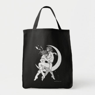 One Way Ticket To The Moon Sketch Romantic Bag