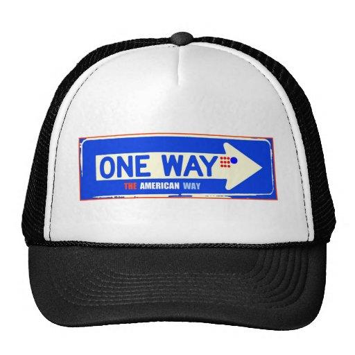 ONE WAY TRUCKER HAT