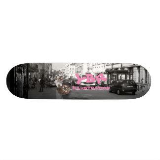 One wheel robo skateboard deck