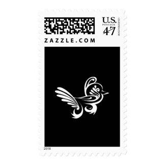 one white bird postage stamp