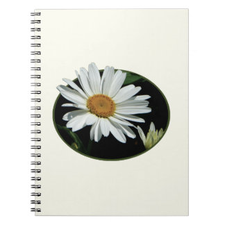 One White Daisy Spiral Notebooks