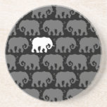 One White Elephant in a Herd Beverage Coaster