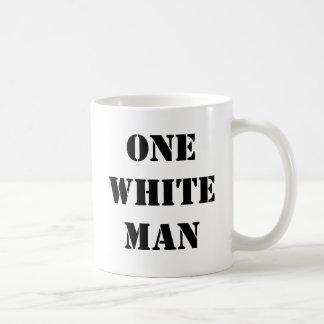 ONE WHITE MAN Coffee Mug