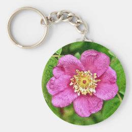 One Wild Rose Keychain