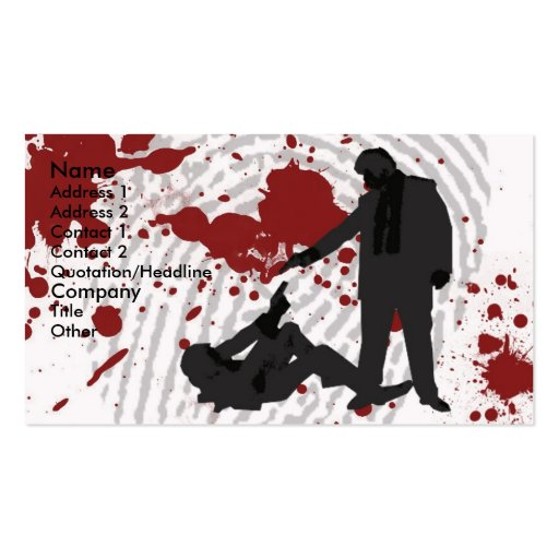 One will die (2) business card