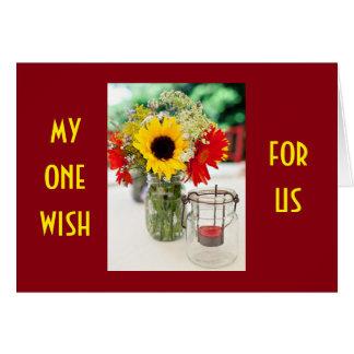 ONE WISH IS THAT WE MET SOONER MY PARNTER IN LIFE CARD