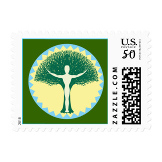 One With Design Postage