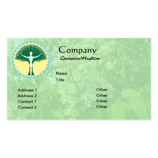 One With Design w/white lilac background Business Card Template