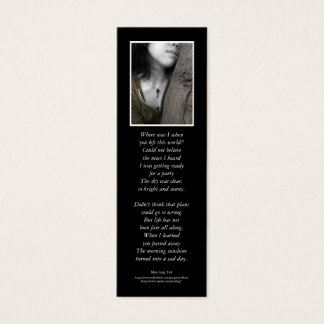 'One with the Earth' poetry bookmark Mini Business Card