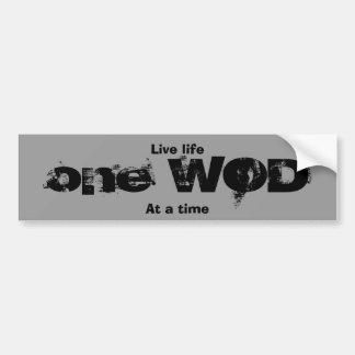 One WOD at a time Car Bumper Sticker
