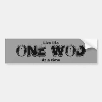 One WOD at a time Bumper Sticker