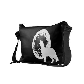 One Wolf Moon Courier Bag