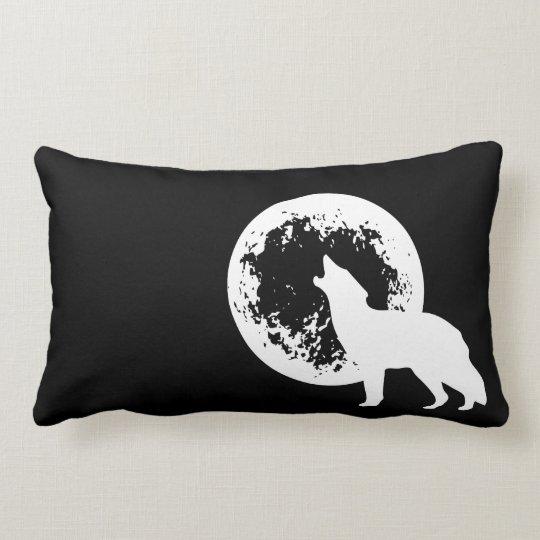 One Wolf Moon Lumbar Pillow