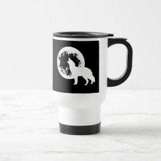 One Wolf Moon Travel Mug