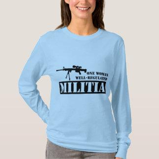One Woman Well Regulated Militia T-Shirt