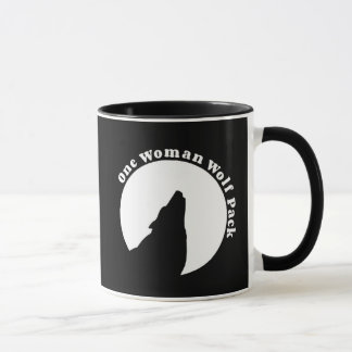 One Woman Wolf Pack Funny Quote Mug