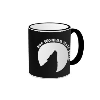 One Woman Wolf Pack Funny Quote Ringer Mug