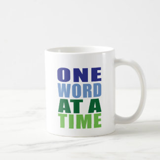 One Word at a Time Classic White Coffee Mug
