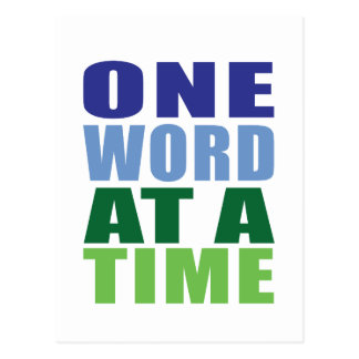 One Word at a Time Postcard