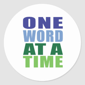 One Word at a Time Sticker