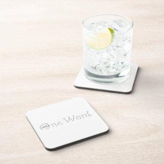 One Word Beverage Coasters