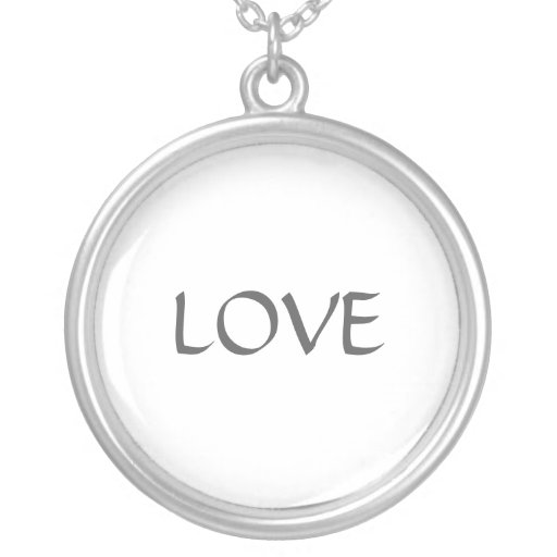 One Word Love On A Sterling Silver Necklace