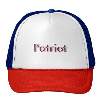One Word Patriot Three Dimensional Text Design Trucker Hat