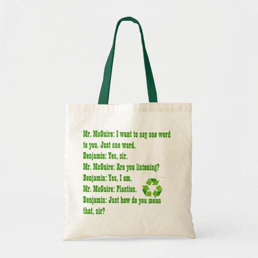 "One word ""Plastic"" Tote Bag"