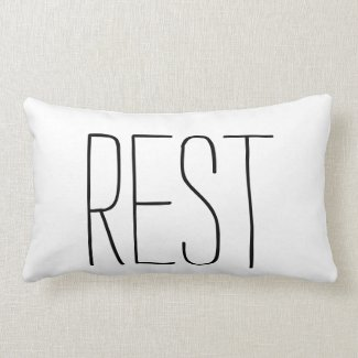 One Word: Rest Lumbar Pillow